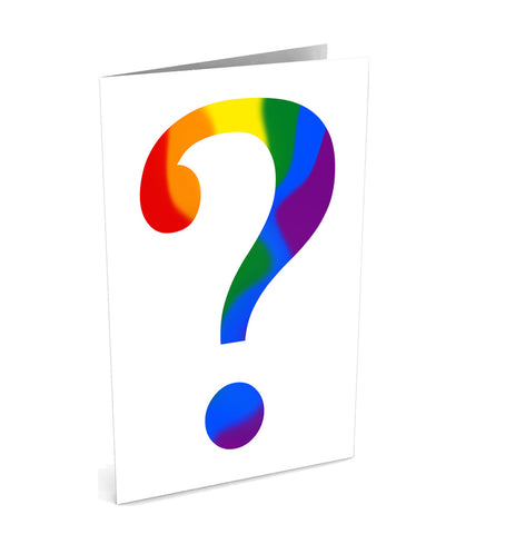 Questioning Greetinng Card | Polycute Gift Shop