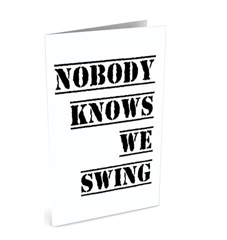 Nobody Knows We Swing Greeting Card | Polycute Gift Shop