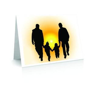 MM Fathers | Polycute Polyamory and LGBT Greeting Card