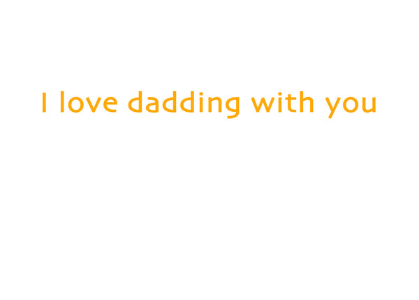 Two Dads Dadding Greeting Card (inside text) | Polycute Gift Shop