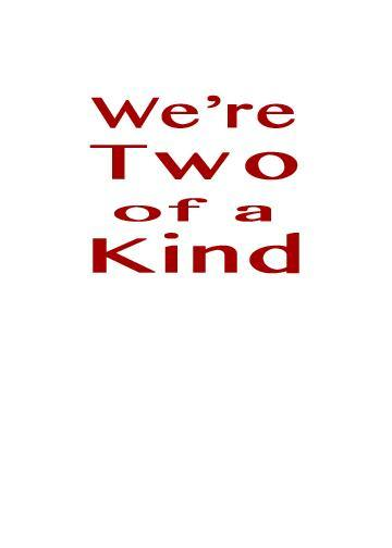 Two of a Kind Love Greeting Card (inside text) | Polycute Gift Shop