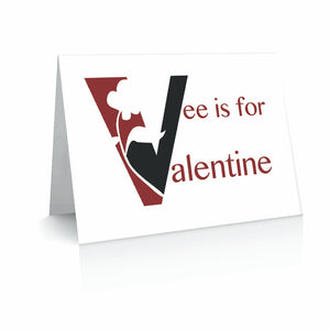 Vee for Valentine Greetinng Card | Polycute Gift Shop