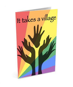 It Takes a Village - Thank You Greetinng Card | Polycute Gift Shop
