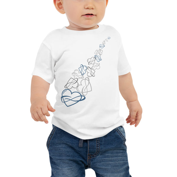 Infinite Love Cascade Baby Tee White | Polycute Gift Shop