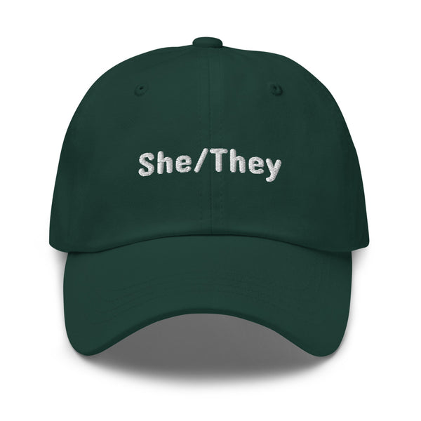 She/They Pronoun Hat