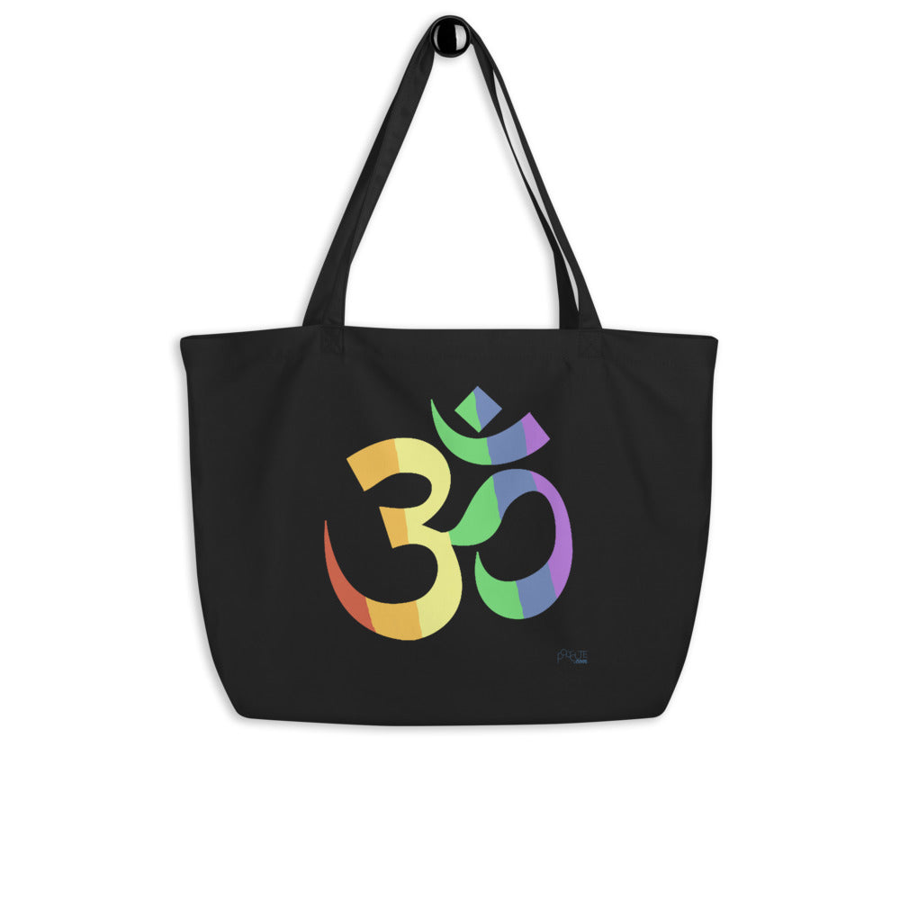 Om Pride Large Yoga Tote | Polycute Gift Shop