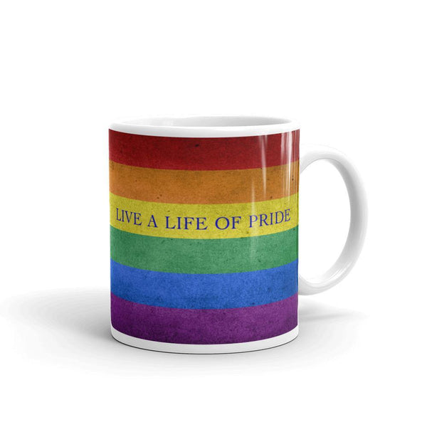Life of Pride Mug | LGBTQ and Polyamory Gifts | Polycute Gift Shop