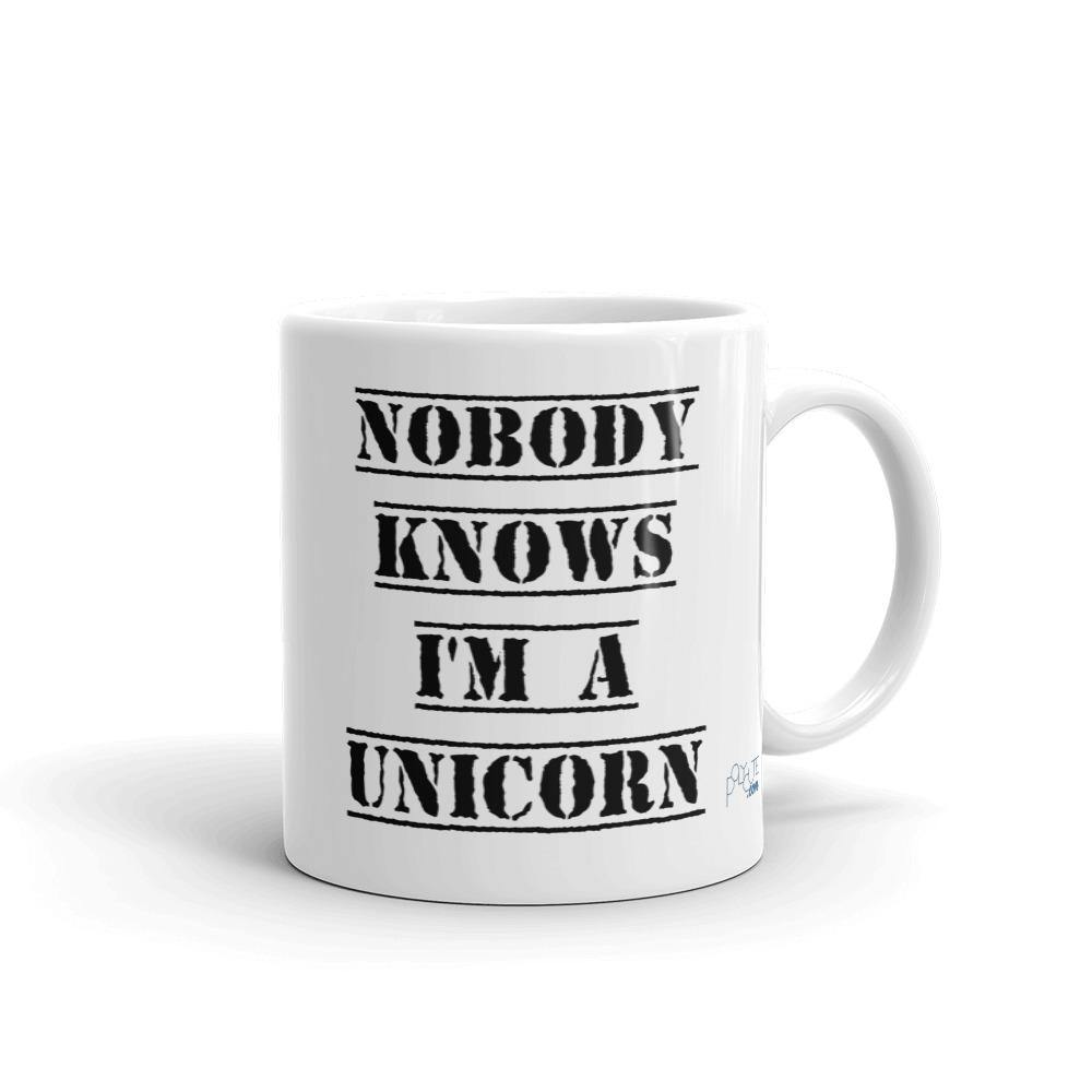 Nobody Knows I'm a Unicorn Mug | LGBTQ and Polyamory Gifts | Polycute Gift Shop