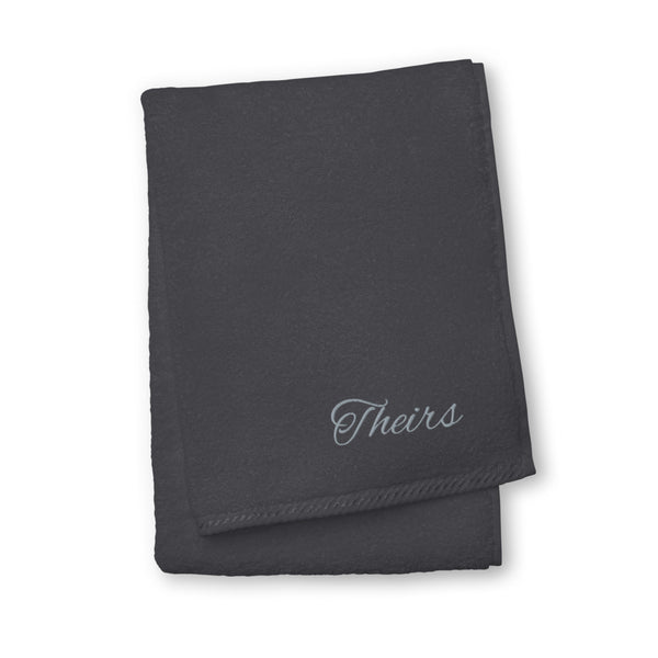 Theirs Pronoun Turkish Cotton Towel Graphite | Polycute Gift Shop