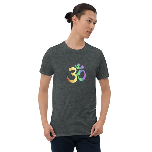 Om Pride Yoga Tee Dark Heather | Polycute Gift Shop