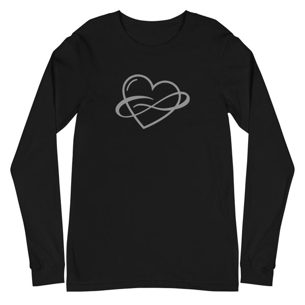 Infinite Love Long Sleeve Tee Black | Polycute Gift Shop