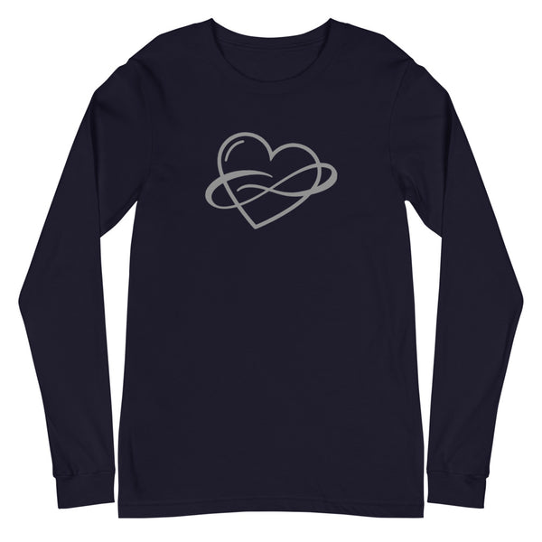 Infinite Love Long Sleeve Tee Navy | Polycute Gift Shop