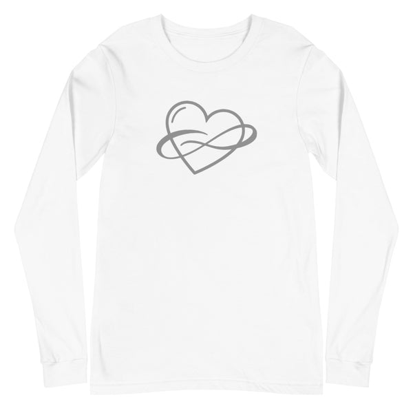 Infinite Love Long Sleeve Tee White | Polycute Gift Shop