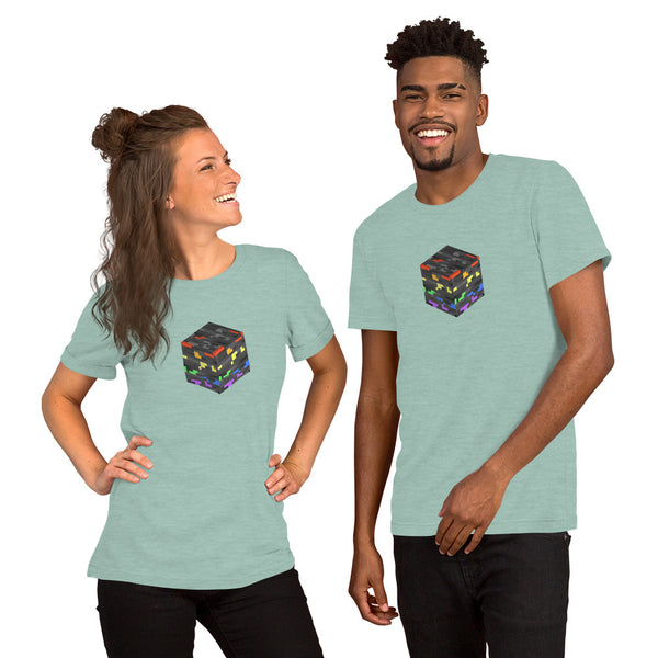 Pride Ore Tee Heather Prism Dusty Blue | Polycute Gift Shop