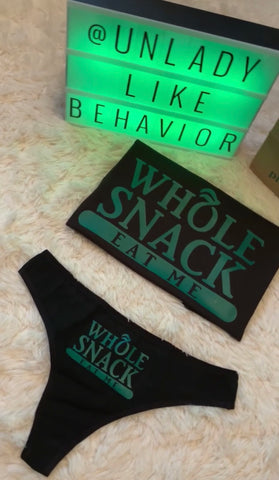 """Whole Snack"" Shirt/Thong set"