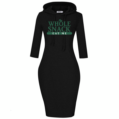 """Whole Snack"" Hoodie Dress"