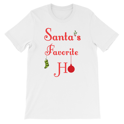 """Santa's Favorite Ho"" Short-Sleeve Unisex T-Shirt"