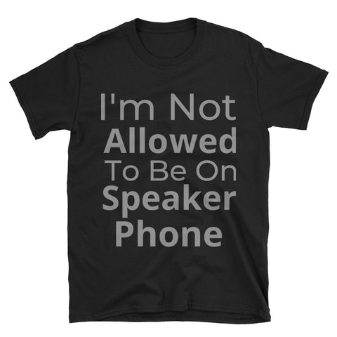 """Speaker Phone"" Short-Sleeve Unisex T-Shirt"