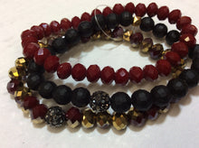 Red/Black Multi Strand Bracelet New