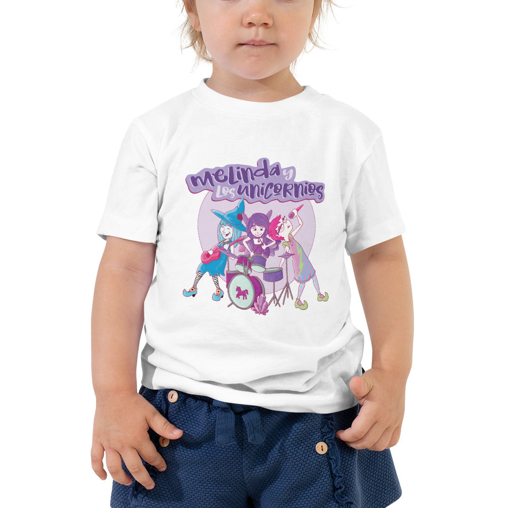 Melinda y los Unicornios Toddler Short Sleeve Tee (Spanish)