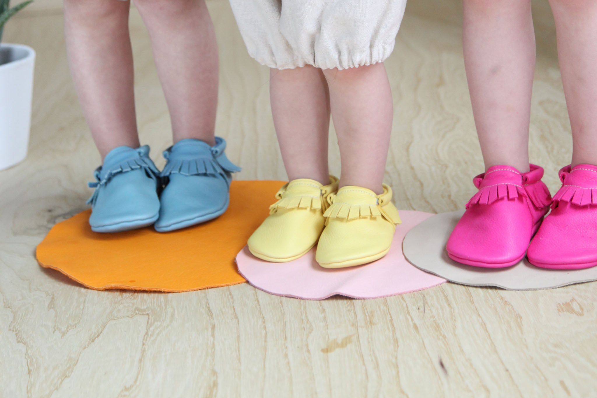 amy and ivor eco leather baby moccasins