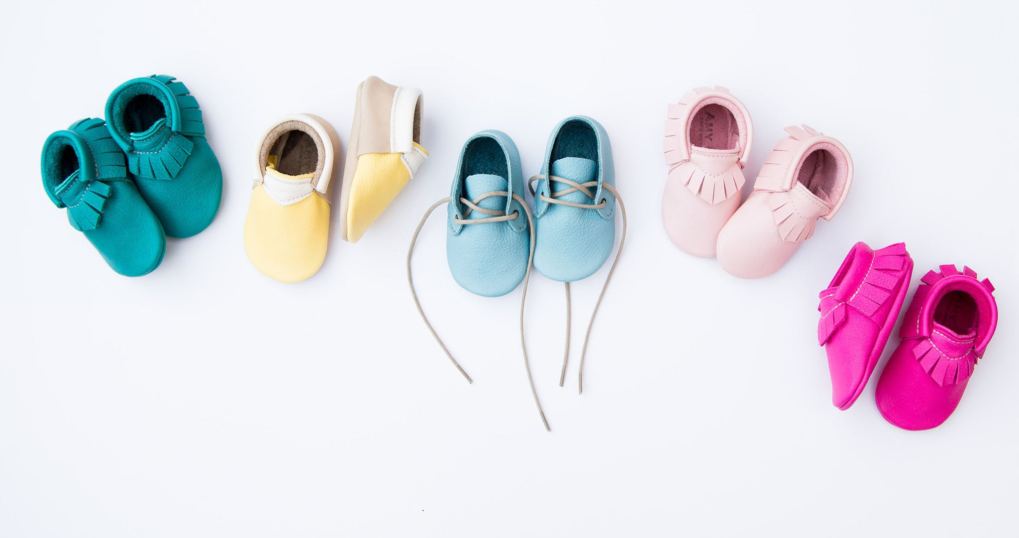 amy and ivor baby shoes turquoise pink yellow