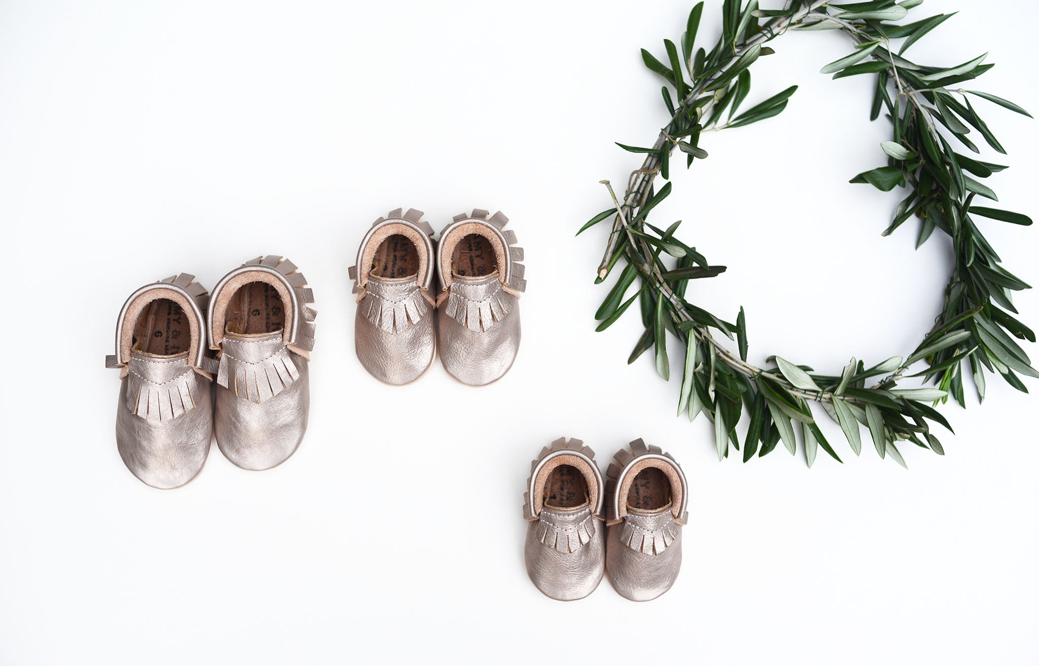 amy and ivor platinum metallic moccasins