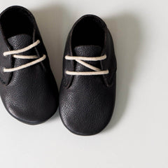 amyandivor.com traveller lace up baby shoes in black