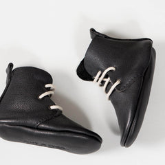 amyandivor.com high tops lace up baby boots in black