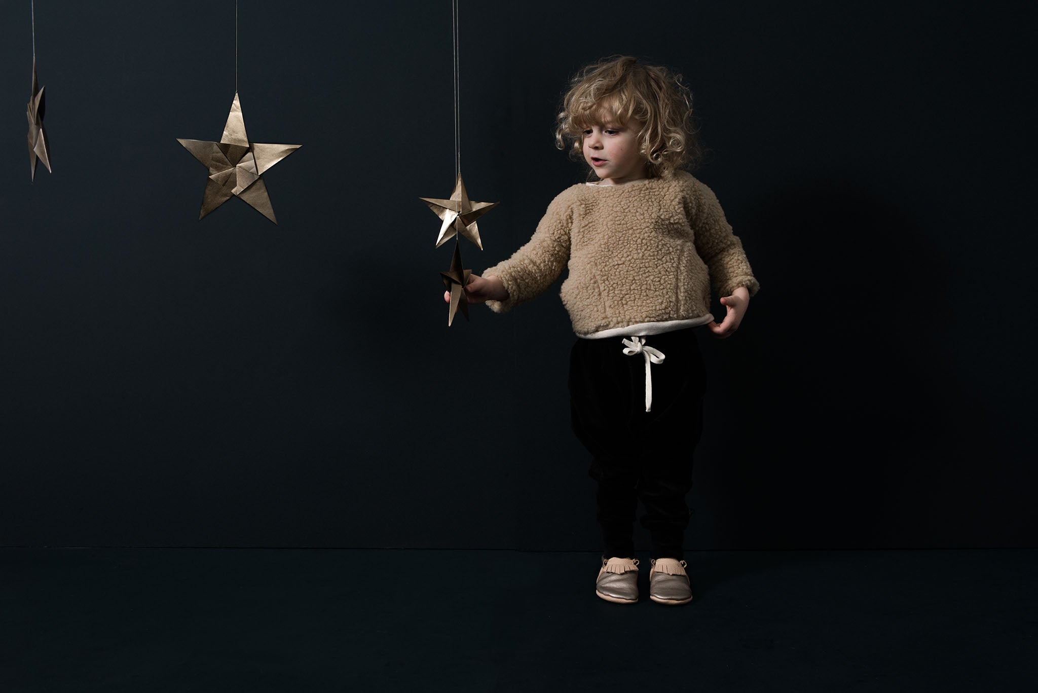 Tiny handmade chrome free eco leather kids moccasins.Exclusives by Amy and Ivor for Cissywears at Liberty London.