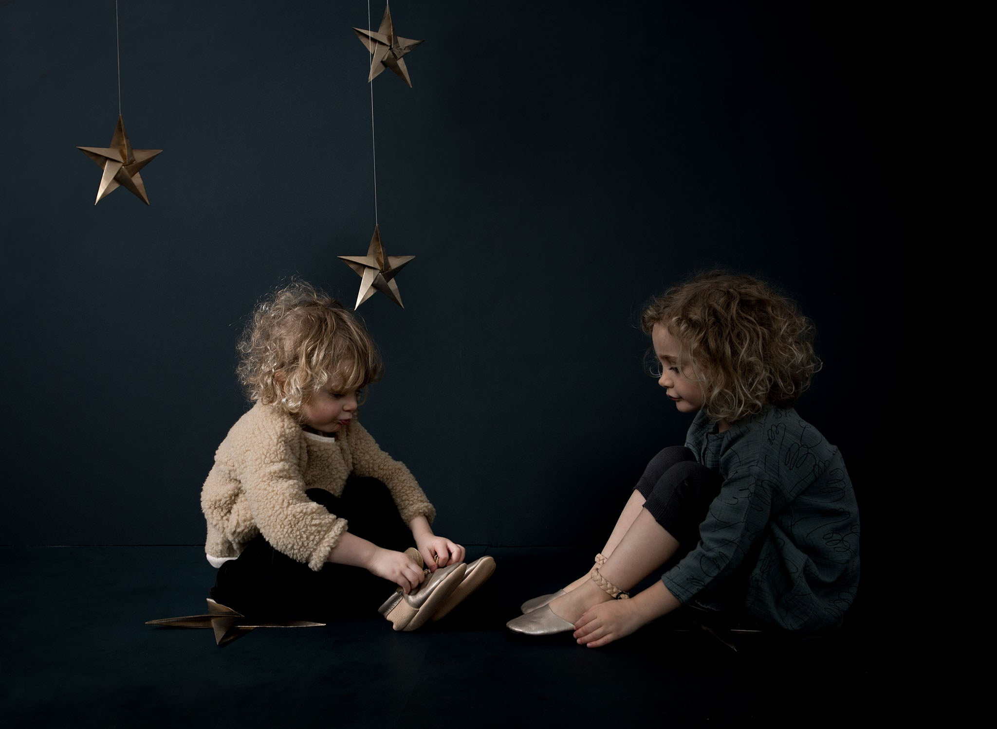 Natural Leather handmade soft structured childrens footwear. Exclusives by Amy & Ivor for Cissywears at Liberty London.
