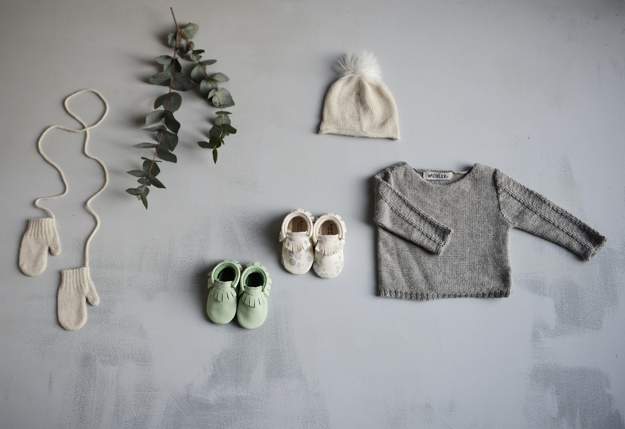 amy and ivor baby moccasins and waddler knitwear baby flatlay perfect first shoes uk kids fashion
