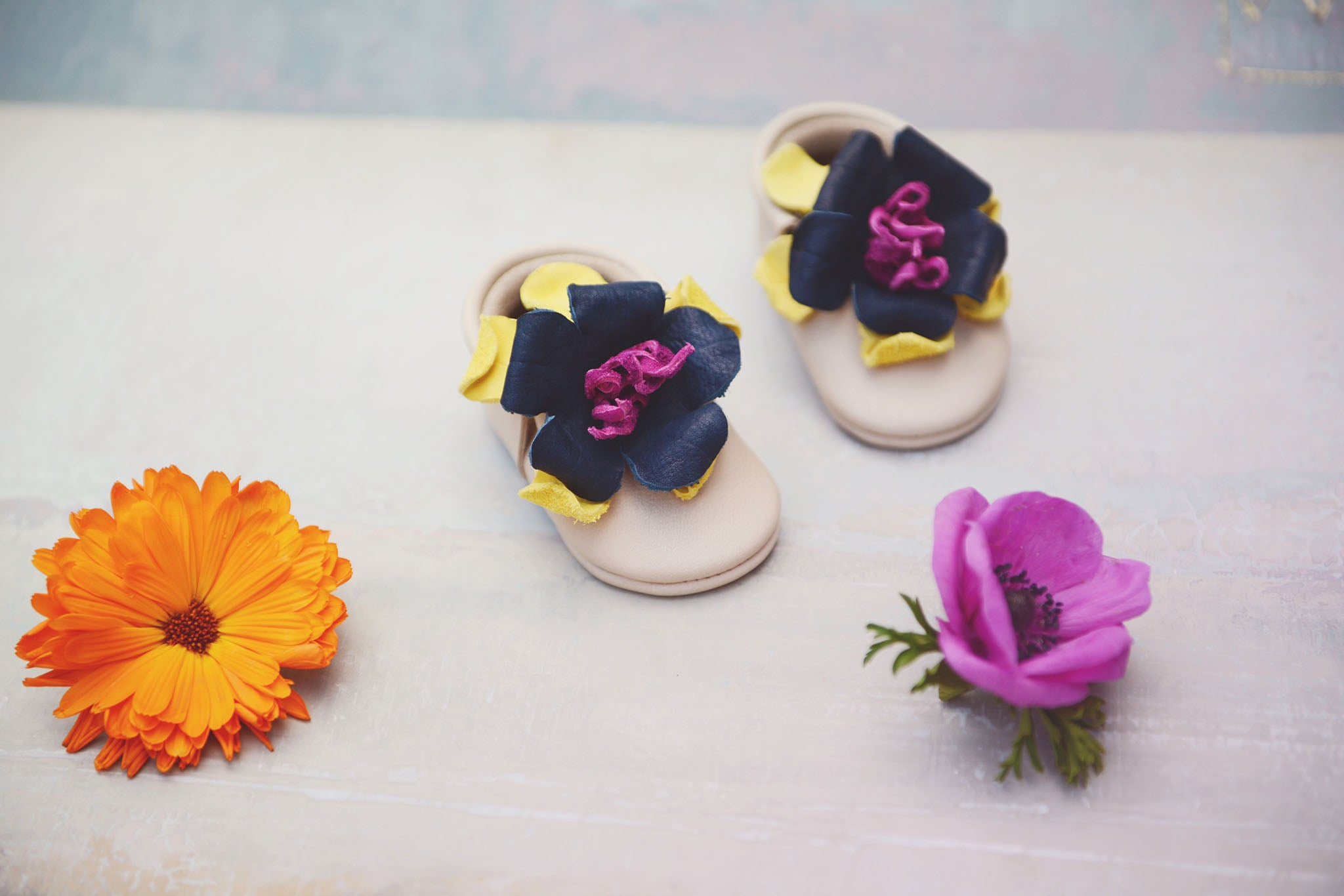 amy and ivor bloom flower moccasins