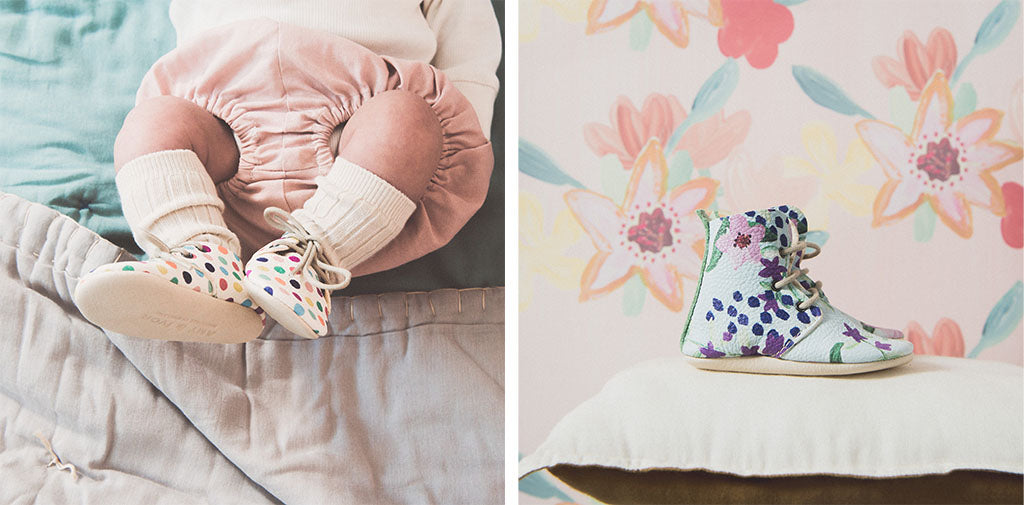 amy and ivor heirloom baby shoes and booties perfect new baby gift, christening gift coco and wolf baby bloomers and camomile london quilts