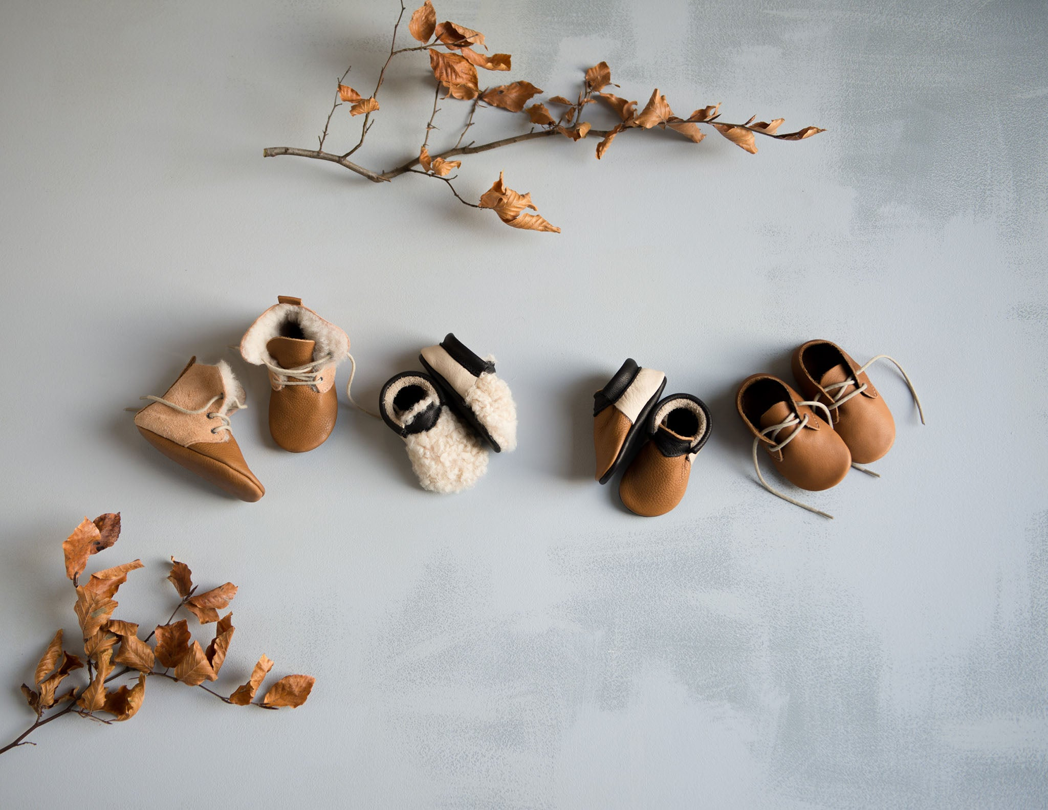 Amy and Ivor natural leather baby shoes, ethical handmade eco friendly and non toxic perfect first shoes