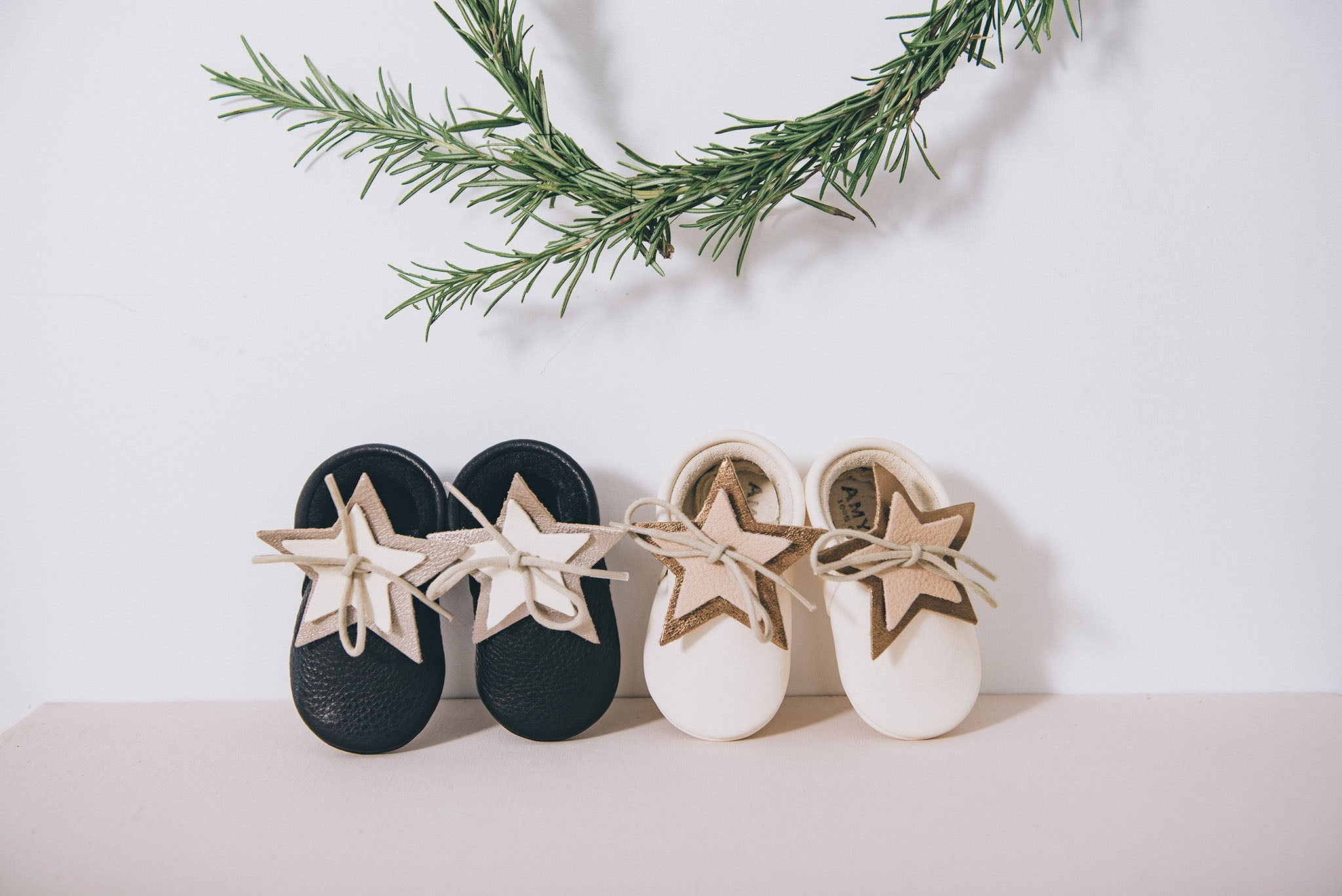 Christmas stars moccasins Amy & Ivor Hedley Field