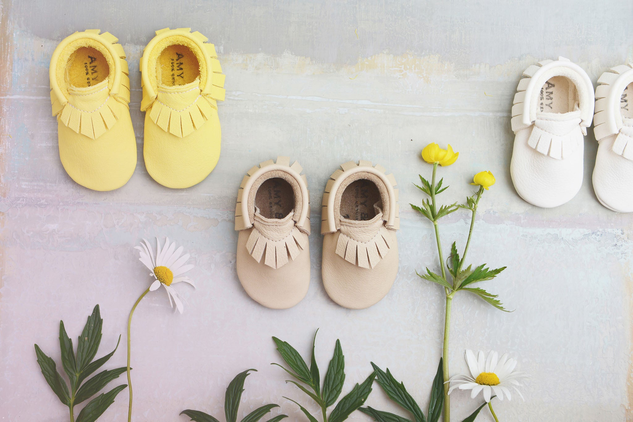 Amy and Ivor baby moccasins