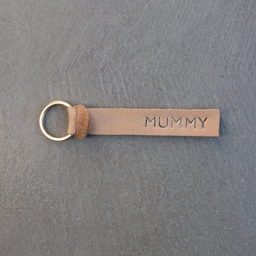 NATURAL PERSONALISED KEY FOB  - SALE