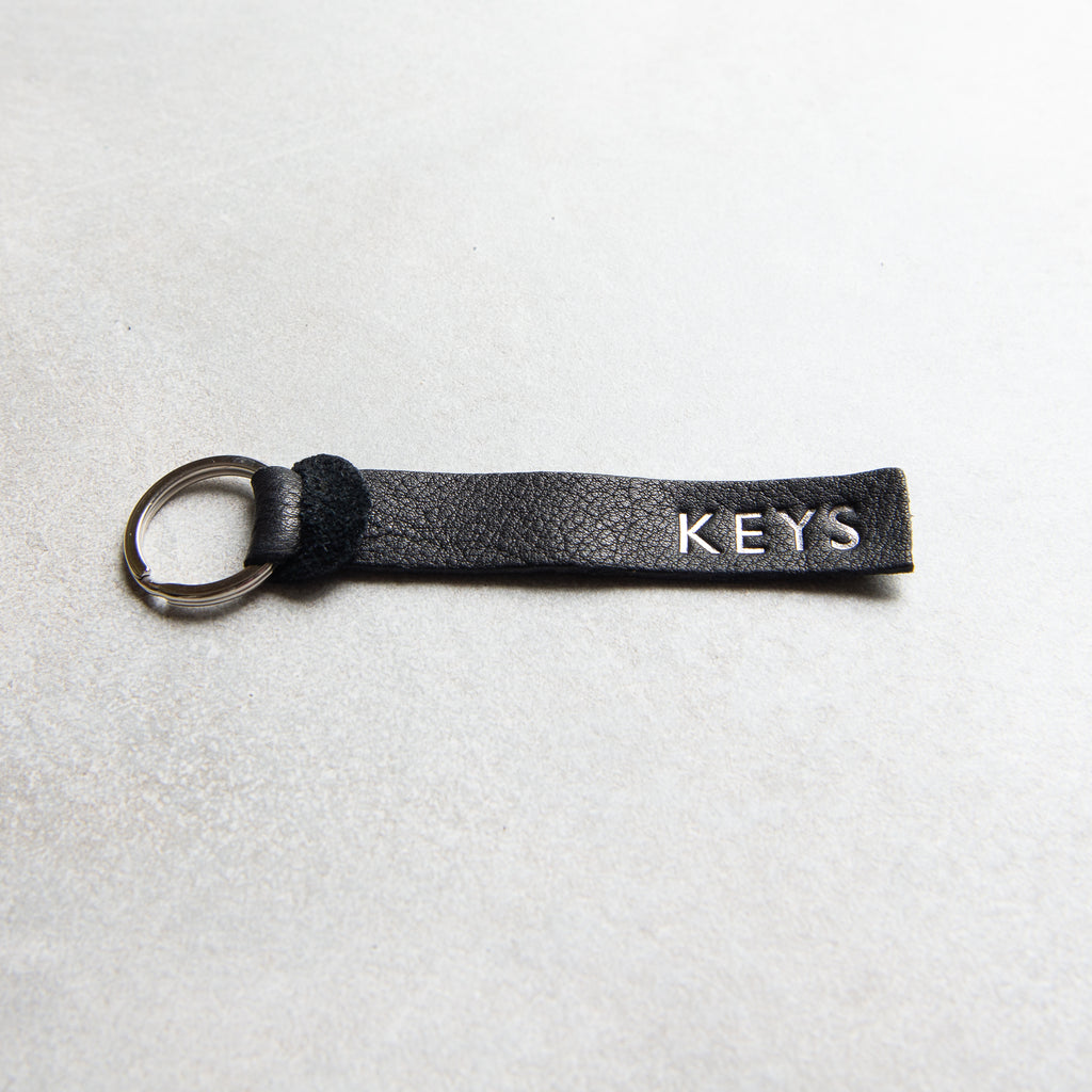 BLACK PERSONALISED KEY FOB