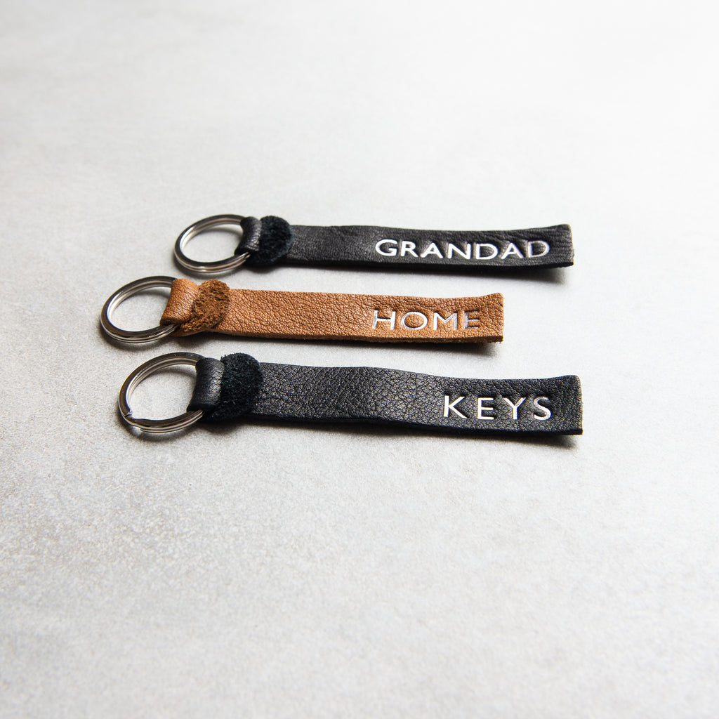 TAN PERSONALISED KEY FOB - SALE