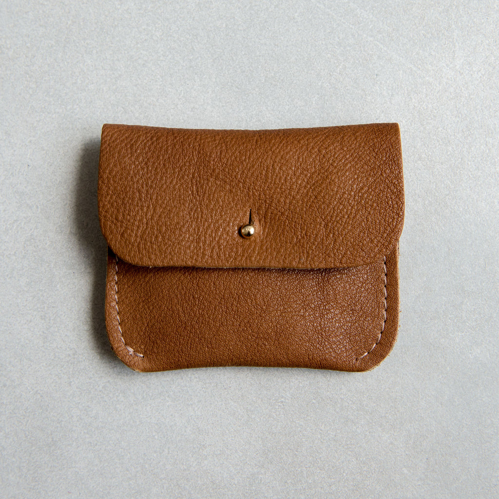 PERSONALISED TAN COIN/CARD PURSE - STOCK SALE
