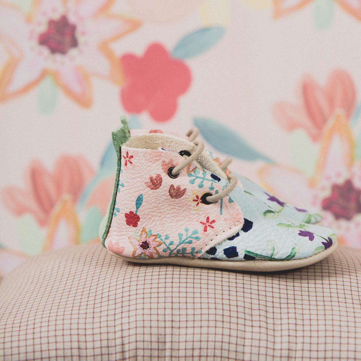 FLOWER ANKLE BOOTS