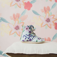BLUE FLORAL HIGH TOPS - Hedley Field