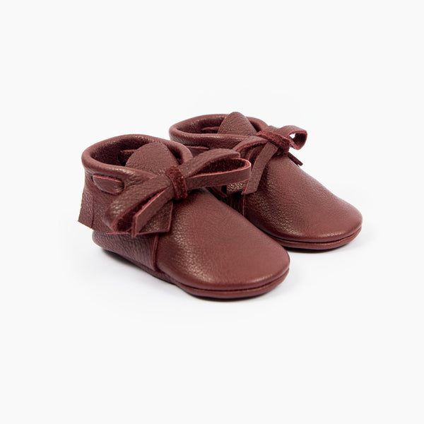 BORDEAUX LACED MOCCASINS