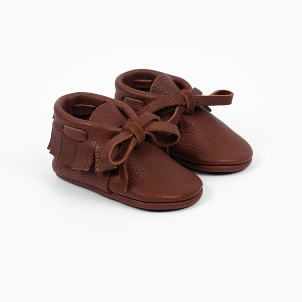 CHESTNUT LACED MOCCASINS