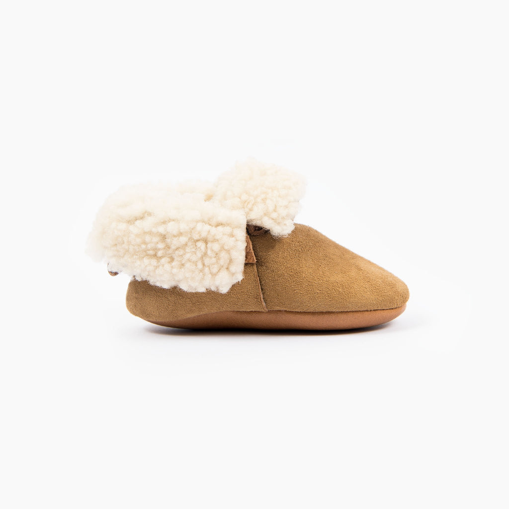 CINNAMON SHEEPSKIN BOOTIES