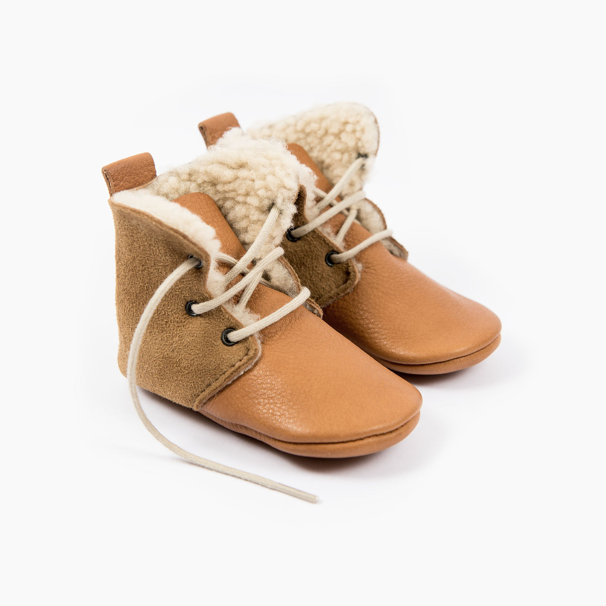 CINNAMON SHEEPSKIN HIGH TOPS