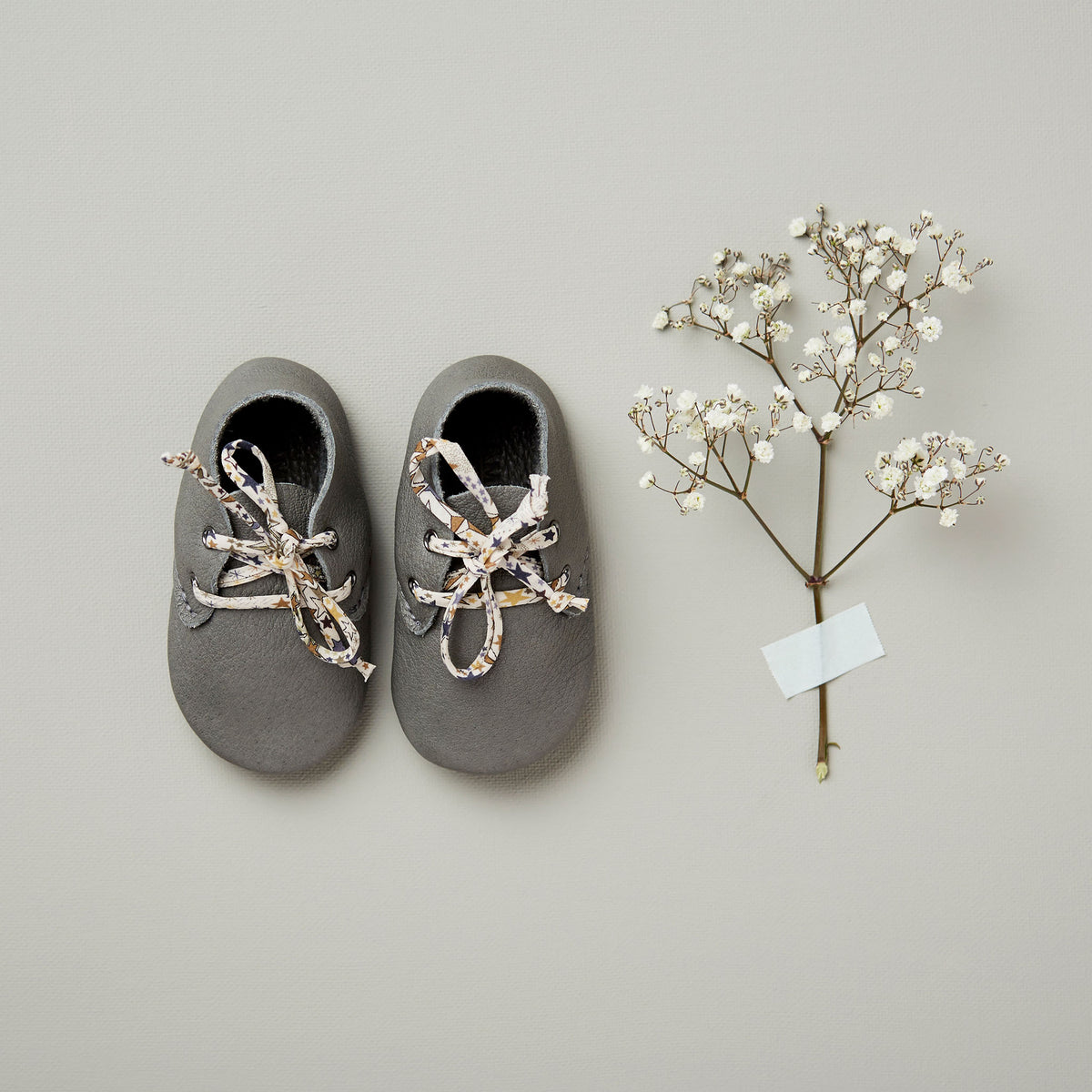 LITTLE CLOUD SLATE TRAVELLERS WITH LIBERTY LACES