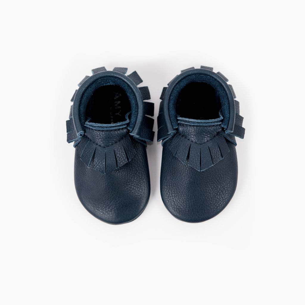 Amy and Ivor Ink classic baby moccasins