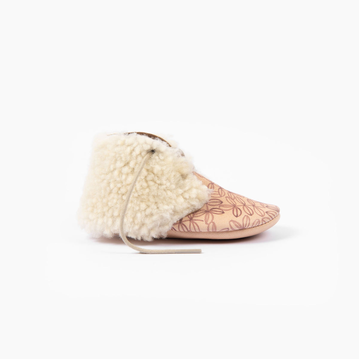 NATURAL LEAVES SHEEPSKIN ANKLE BOOTS